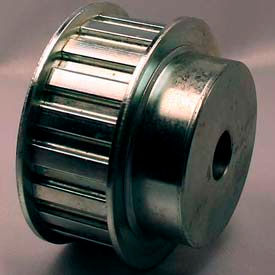 "28 Tooth Timing Pulley, (H) 1/2"" Pitch, Clear Zinc Plated Steel, 28H100-6FS8"