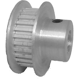 28 Tooth Timing Pulley, (Lt) 0.0816 Pitch, Clear Anodized Aluminum, 28lt187-6fa3 - Min Qty 8