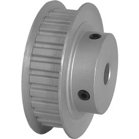 "28 Tooth Timing Pulley, (Xl) 1/5"" Pitch, Clear Anodized Aluminum, 28xl037-6fa4 - Min Qty 5"