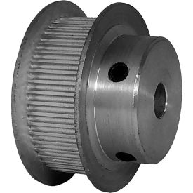 48 Tooth Timing Pulley, (Pwrgrip Gt) 2mm Pitch, Clear Anodized Aluminum, 48-2p09-6fa3 - Min Qty 5