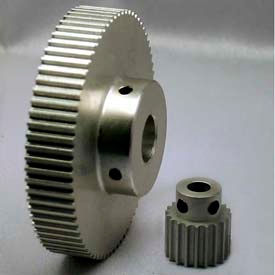 48 Tooth Timing Pulley, (Htd) 3mm Pitch, Clear Anodized Aluminum, 48-3m09-6a4 - Min Qty 5