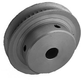 48 Tooth Timing Pulley, (Mxl) 2.03mm Pitch, Gold Anodized Aluminum, 48mp012m6fa6 - Min Qty 8