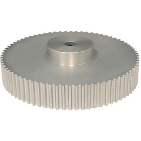 72 Tooth Timing Pulley, (Htd) 5mm Pitch, Clear Anodized Aluminum, 72-5m15-6a5 - Min Qty 2