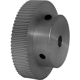 74 Tooth Timing Pulley, (Pwrgrip Gt) 2mm Pitch, Clear Anodized Aluminum, 74-2p06-6a3 - Min Qty 4