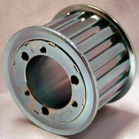 """26 Tooth Timing Pulley, (H) 1/2"""" Pitch, Clear Zinc Plated Steel, Qd26h150 - Min Qty 2"""