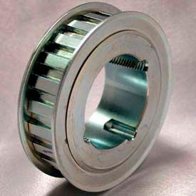 "24 Tooth Timing Pulley, (L) 3/8"" Pitch, Clear Zinc Plated Steel, Tl24l100 - Min Qty 3"