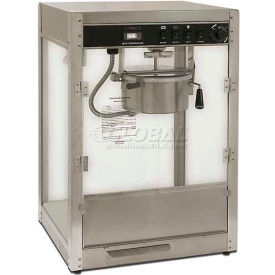 Benchmark USA 11087 Silver Screen Popcorn Machine 8 oz Silver 120V 1510W