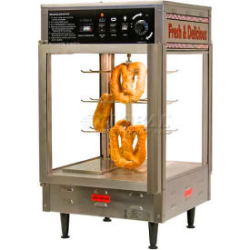 "Benchmark 12"" Pizza/Pretzel Display Warmer, Humidified, 2-Door, Rotating, 3 Tier - 51012"
