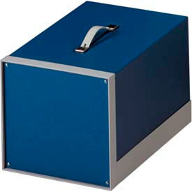 "Bud BB-1809-RB Showcase Small Cabinet Royal Blue Texture 15""W x 11.06""D x 9.93"" H"