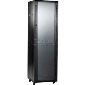 """Bud Industries BRP-12208 BudRack Professional Series Cabinet Rack, 45U, 23"""" Depth"""