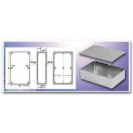 """Bud Cu-471-G Econobox Die Cast Aluminum Enclosure 4.33"""" L X 3.25"""" W X 1.75"""" H Gray - Min Qty 9"""