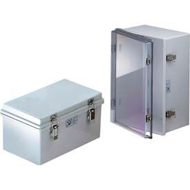 "Bud NBA-10148 UL/NEMA/IEC NBA Series Plastic Box With Solid Door 15.75"" L x 11.80"" W x 7.09"" H"