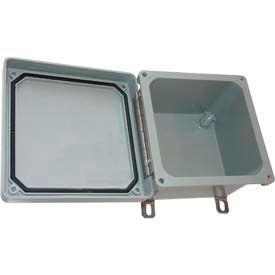 """Bud Nfl-6630 Fiberglass Nema Bx SS Latch Type Lid Closure 7.75"""" W X 4.8"""" D X 7.75"""" H-Min Qty 2"""