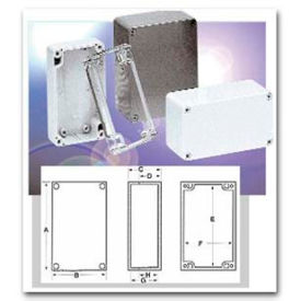 Bud Pn-1327-Cmb Nema 4x-Pn Series Box 6.73 L X 4.76 W X 3.15 H Clear w/ Mounting Brackets-Min Qty 5