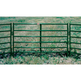 "Behlen Country 16 Gauge Medium-Duty Corral Panel 88"" Usable Length, 92""L x 1-5/8""W x 50""H, Green"