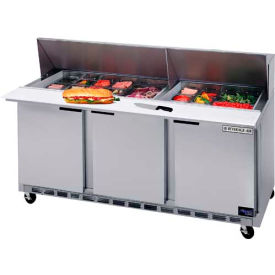 """Beverage Air® SPE72-30M Food Prep Tables Spe72 Elite Series Mega Top, 72""""W"""