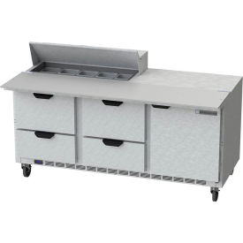 "Food Prep Tables SPED72 Elite Series Cutting Top w/ Drawers, 72""W - SPED72HC-10C-4"