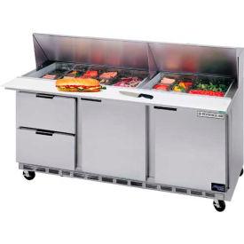 """Beverage Air® SPED72-18-4 Food Prep Tables Sped72 Elite Series Standard Top W/ Drawers, 72""""W"""