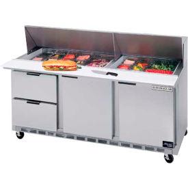 "Food Prep Tables SPED72 Elite Series Mega Top w/ Drawers, 72""W - SPED72-18M-2"