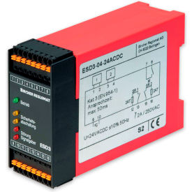 Bircher Reglomat ESD3-06-24ACDC Safety Controller, Ext.(manual) reset, 24VAC/DC, Safety Cat 3 CEN