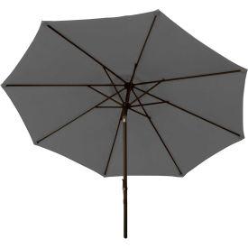 Bliss 9' Market Polyester Outdoor Umbrella, Dark Gray