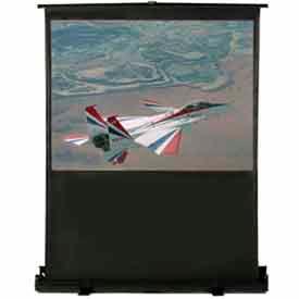 68 x 39 Matte White Fabric 16:9 Format Portable Floor Screen