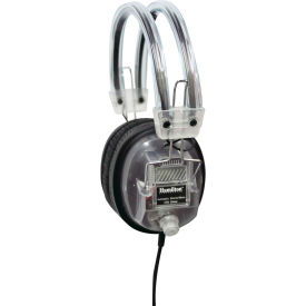 "Hamilton SchoolMate Clear Housing Deluxe Headphone with 1/8"" Plug & 1/4"" Adapter, Vol. Control"