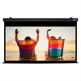 "HamiltonBuhl Electric Projector Screen - 100"" Diagonal - HDTV Format - Black Frame"
