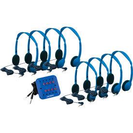 Hamilton Kids Lab Pack, 8 Personal Headphones and Jackbox