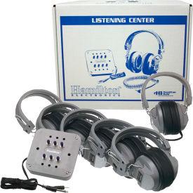 HamiltonBuhl Listening Center, 6 Station Jackbox, Deluxe Headphones w/ Laminated Carry Box