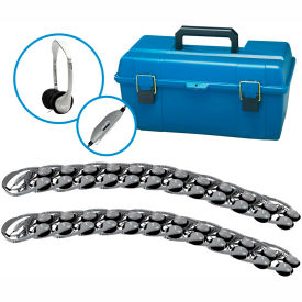 HamiltonBuhl Lab Pack, 24 HA2V Personal Headphones in a Carry Case