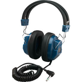 """Deluxe Mono Headphone w/ 1/4"""" Adapter, Permanently Attached Cord"""