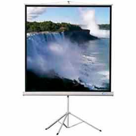 80 x 80 Heavy Duty Tripod Matte White Fabric Square Format Projector Screen