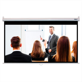 "HamiltonBuhl Manual Projector Screen - 100"" Diagonal - HDTV Format - White Frame"