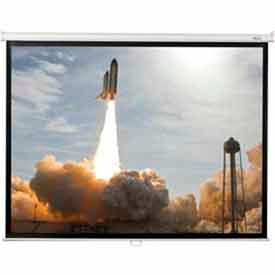50 x 50 Manual Wall Matte White Fabric Square Format Projector Screen