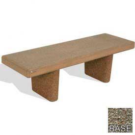 "48"" Heavy Duty Flat Bench, Gray Limestone"