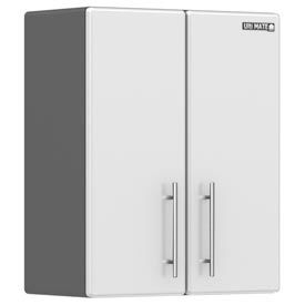 """Ulti-MATE Storage / 2-Door Wall Cabinet / Starfire Pearl 23-1/2""""Wx12-1/2""""Dx30""""H"""