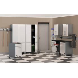 Ulti-MATE Storage 8-Piece Kit in Starfire Pearl - Cabinets & Worktop Bench