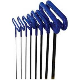 Bondhus 46487 Loop T-Handle Cushion Grip Metric Hex Key Set, 2-10mm, 8 Pieces
