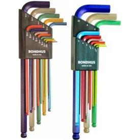 Bondhus 69600 ColorGuard 22 Pc. Ball End L-Wrench Hex Key Combo Set,...