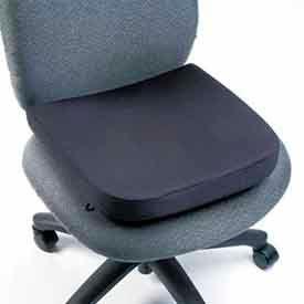"""Memory Foam Backrest, 13-1/4""""W x 1-3/4""""D x 14-1/4""""H, Black"""