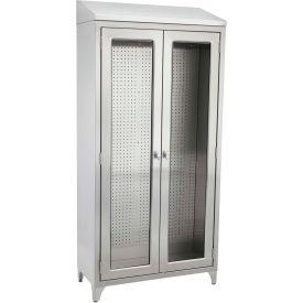 "Blickman 7959SS Walter Freestanding Medical Storage Cabinet, 35-5/8""W x 16""D x 76""H"