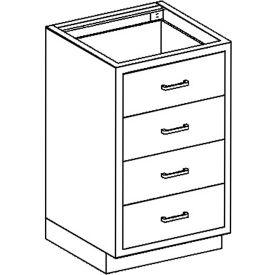 Blickman Four Drawer Base Medical Cabinet, 24-1/8 x 22 x 35-3/4