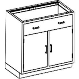 Blickman One Shelf, One Drawer Base Medical Cabinet, 35 x 22 x 35-3/4