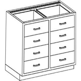 "Blickman Eight 6-3/16""H Drawer Base Medical Cabinet 35 x 22 x 35-3/4"