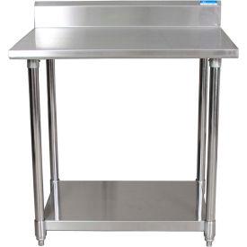 "BK Resources CTTR5-7230, 72"" W x 30"" D 16 ga. Stainless Steel Workbench w/ 5"" Backsplash"