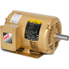 Baldor-Reliance EM30009 .5HP 3600RPM 48 Frame 3PH 230/460V, ODP, Rigid, Premium Efficiency