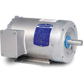 Baldor-Reliance Washdown Motor IDCSWDM3542, 3 Phase, 0.75 HP, 1740 RPM, 208-230/460 V, TENV,56C FR