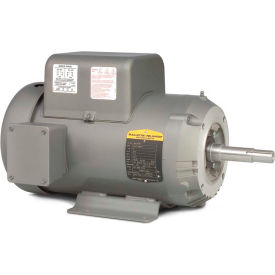 Baldor Motor JML3608T, 5HP, 3450RPM, 1PH, 60HZ, 184JM, 3640LC, TEFC, F