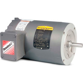 Baldor Motor KM3457, .33HP, 3450RPM, 3PH, 60HZ, 56C, 3410M, TENV, F1